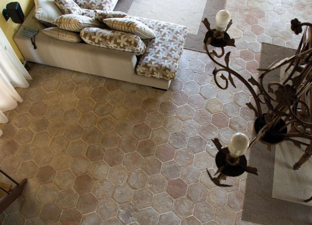 ROY_COT_cotto estrusco_pavimento esagonale per interni ed esterni